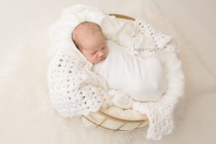 hamilton newborn photographer - baby evangeline makes family of five studio session all neutrals