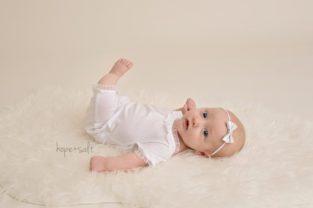A studio session for 3-month old girl Emma Burlington Ontario baby photographer Hope + Salt