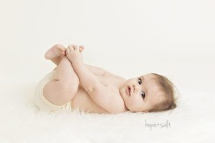 a white and creamy sitter session in-studio for 6 month old boy John - oakville ontario baby photographer Hope + Salt