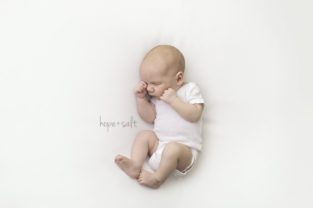 burlington newborn photographer - in studio session for two week old baby boy jordy simple pure natural baby led posing by Hope + Salt Photography