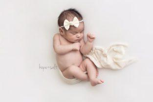 burlington newborn photographer - three week old baby girl charlotte organic simple natural studio session by Hope + Salt Photography