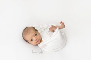 burlington newborn photographer - baby boy weston and family naturally posed organic studio session with all whites and neutrals by Hope + Salt