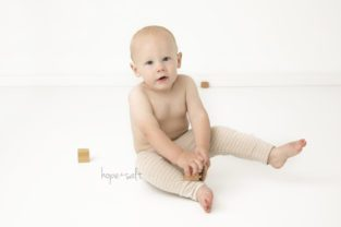 burlington baby photographer - one year old nathan first birthday session in studio all neutrals classic images